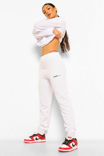 White Woman Oversized Jogger