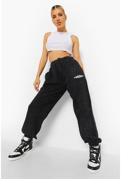 Acid Wash Official Oversized Jogger, Charcoal grau