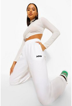 White Basic Woman Joggers