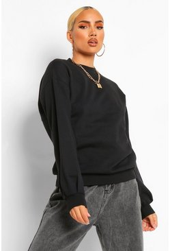 Black Cut Out Back Puff Sleeve Sweater