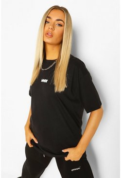Black Basic Woman Oversized T-shirt