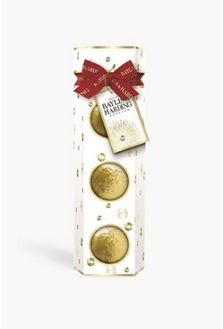 Gold metallic Baylis And Harding Mandarin Bath Fizzers
