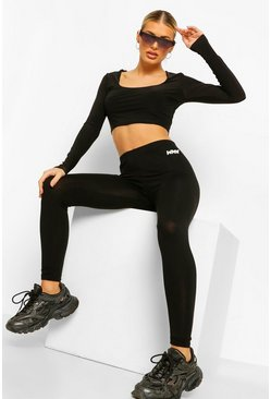 Black Basic Woman Legging