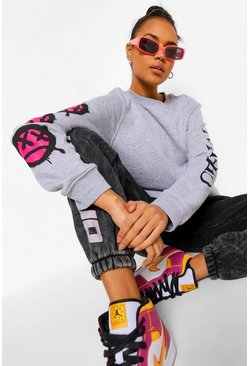 Bright pink pink Official Print Sweatshirt