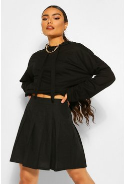 Black Woven Tennis Skirt