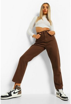 Chocolate brown Denim Mom Jeans