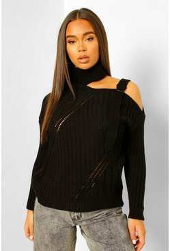 Black Cut Out D Ring Cable Jumper