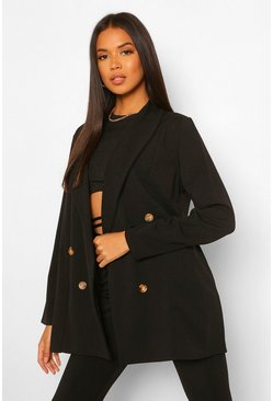 Oversized Tailored Blazer, Black nero