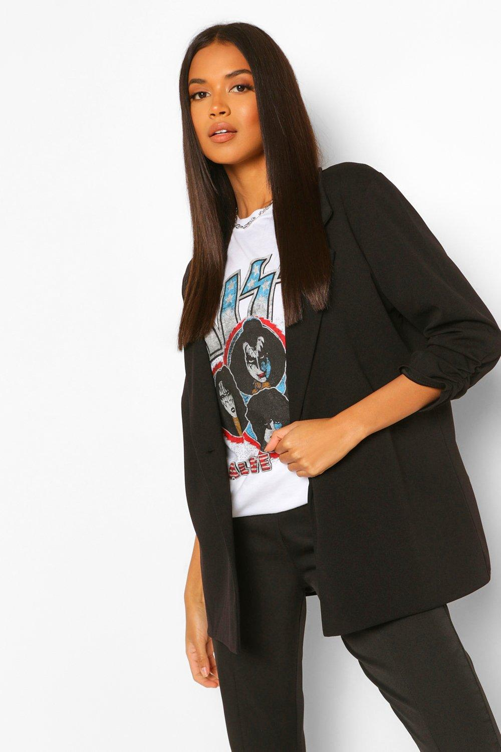 NEW IN Ruched Sleeve Tailored Blazer