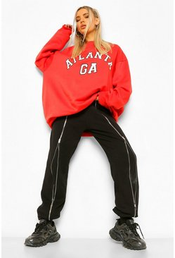 Red Oversized Atlanta Sweater
