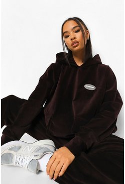 Chocolate brown Oversized Corduroy Utility Trainingspak