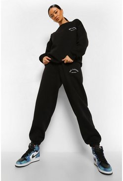 Black Oversized Heavyweight Ath-leisure Sweater Tracksuit