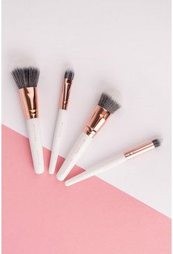 Brushworks White & Gold Travel Brush Set