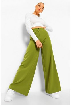 Olive green Extreme Wide Leg Woven Trouser