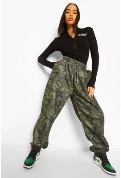 Multi Oversized Camo Joggingbroek Met Tekst