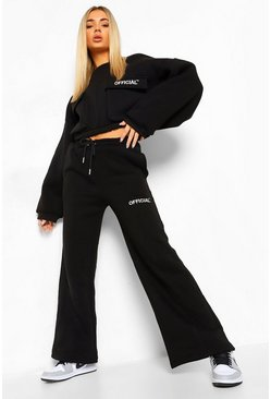 Black Oversized Wide Leg Joggers