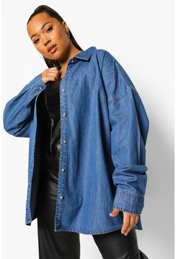Mid blue blue The Ultimate Oversized Denim Shirt