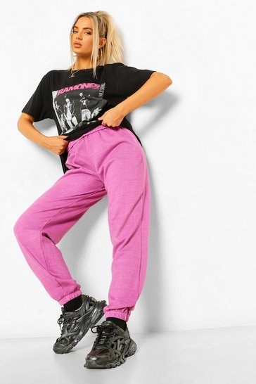 Pink Loose Fit Overdyed Jogger