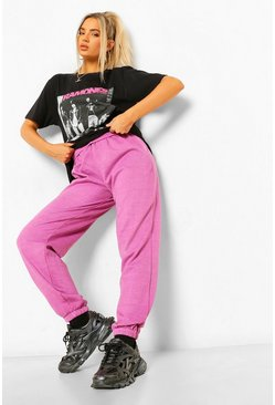 Pink  Loose Fit Overdyed Joggers