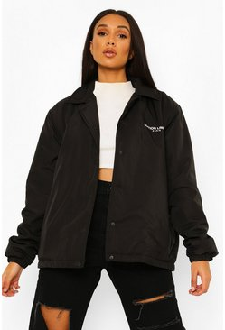 Black Offical Padded Windbreaker