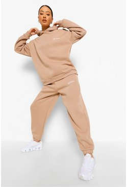Stone beige Oversized Ofcl Studio Embroidered Tracksuit