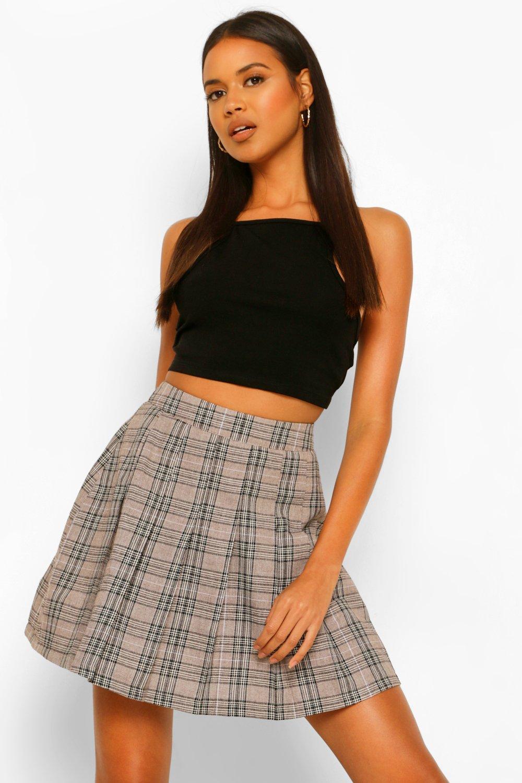 Tennis Skirts Woven Check Tennis Skirt