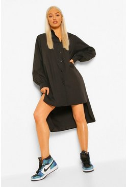 Black Super Oversized Blouse Jurk