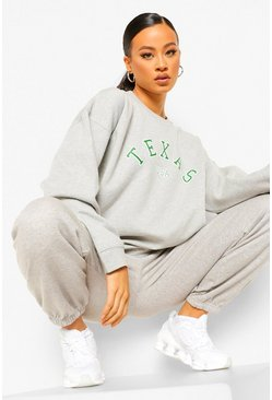 "Survêtement sweat ""Texas"", Grey marl gris"
