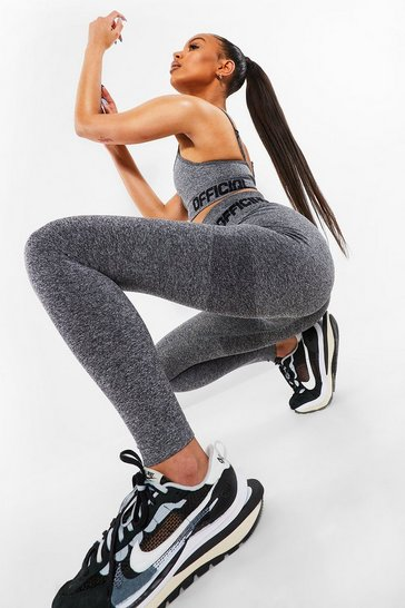Grey Seamless Supportive Leggings