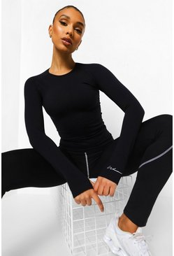 Caramel Seamless Active Long Sleeve Top