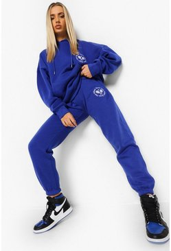 Cobalt Oversized Tennis Embroidered Tracksuit
