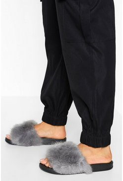 Light grey Fur Slider