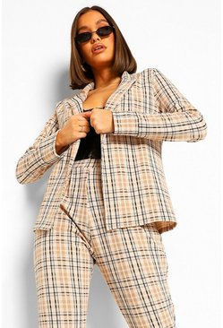 Black Tonal Check Tailored Blazer And Trouser Co-ord Suit