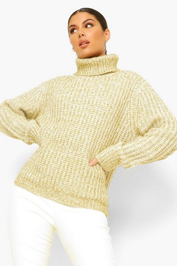 Gold metallic Roll Neck Tinsel Jumper