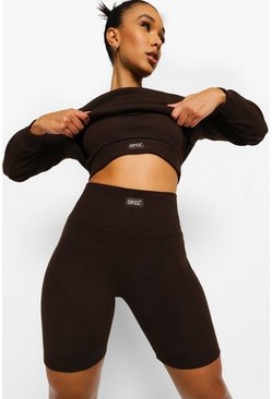 Short cycliste de sport Ofcl, Chocolate marron