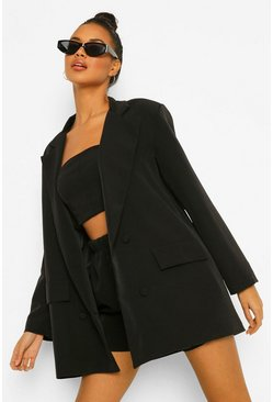 Black Oversized Dad Blazer