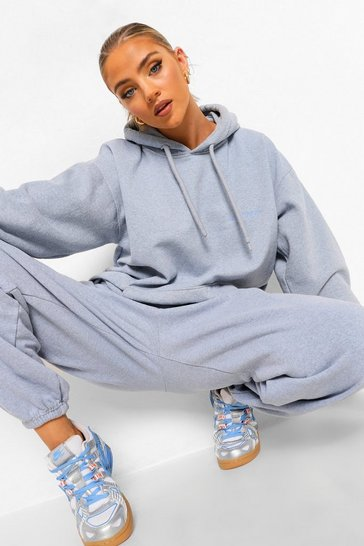 Light blue blue Ofcl Studio Overdyed Marl Tracksuit