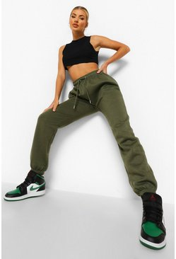 Khaki Basic Regular Joggers