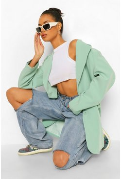 Sage green Super Oversized Dad Blazer