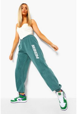 Teal green Woman Acid Wash Joggers