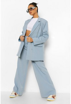 Dusty blue blue Baggy Wide Leg Broek