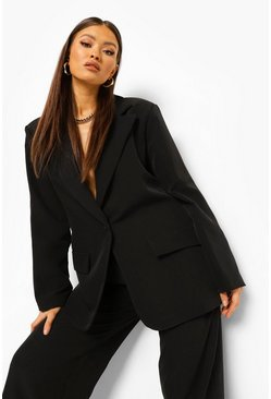 Oversized Blazer & Paperbag Waist Trouser Suit Set