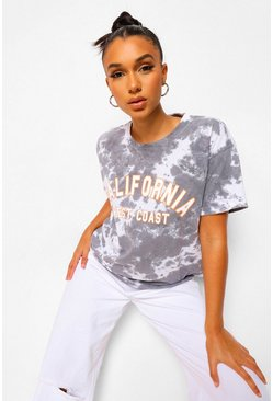 Navy Tie Dye California T-Shirt