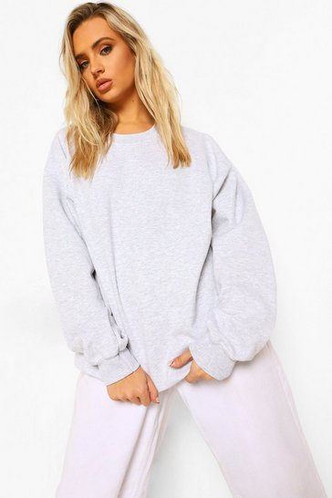 Light grey grey Ash Grey Oversized Sweater