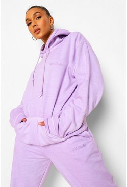 Lilac Loose Overdyed Ofcl Studio Hoodie