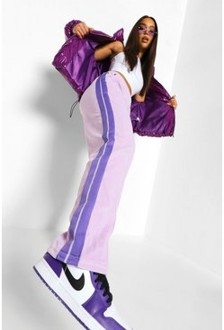 Lilac purple Official Velour Joggerss With Tape
