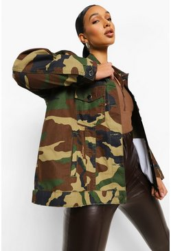 Camo Denim Shacket
