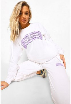 White Limited Edition Print Tracksuit
