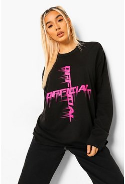 Black Official Printed Long Sleeve T Shirt
