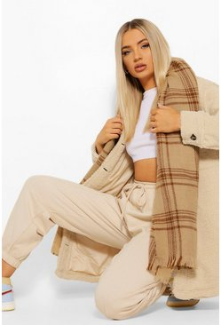 Caramel Heavy Weight Tonal Check Scarf